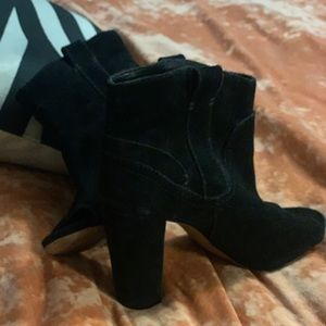 Vince camuto ankle booties black suede